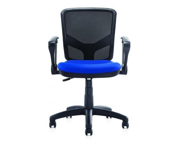 Scaun de birou ergonomic, tapitat cu stofa Novo S105 Black / Blue, l59xA59xH88-98 cm
