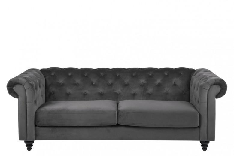 Canapea Fixa 3 locuri din stofa Charlietown Dark Grey