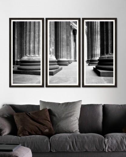 Tablou 3 piese Framed Art Church Colonnade Triptych