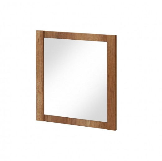 Oglinda pentru baie, l80xH80 cm, Classic Oak