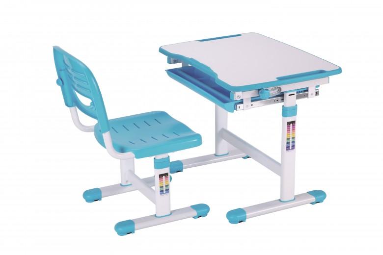 Set birou pentru copii, reglabil pe inaltime Comfortline Albastru, L66,4xl47,4xH54 cm