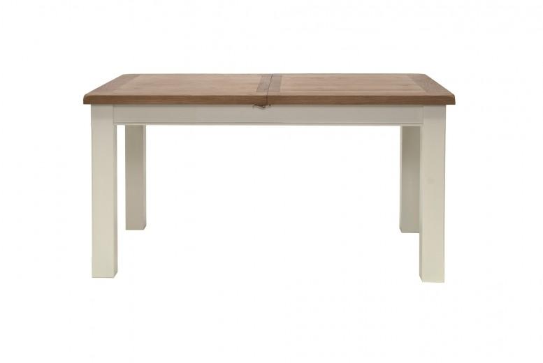 Masa din lemn de stejar Chaumont Ivoir, L150-190xl90xh78 cm