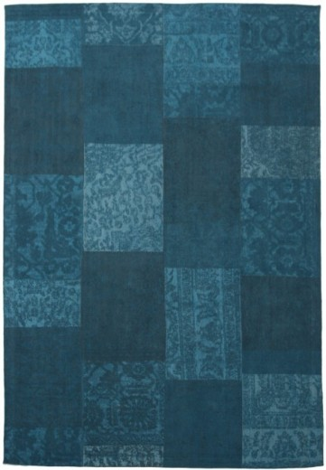 Covor Collage Blue, Tesut mecanic