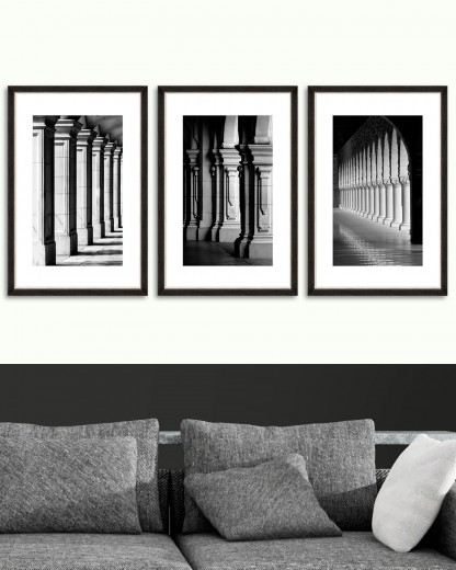 Tablou 3 piese Framed Art Colonnade
