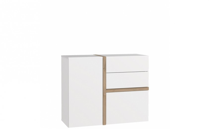 Comoda cu 2 sertare si 2 usi Blanka, l108xA41xH88 cm