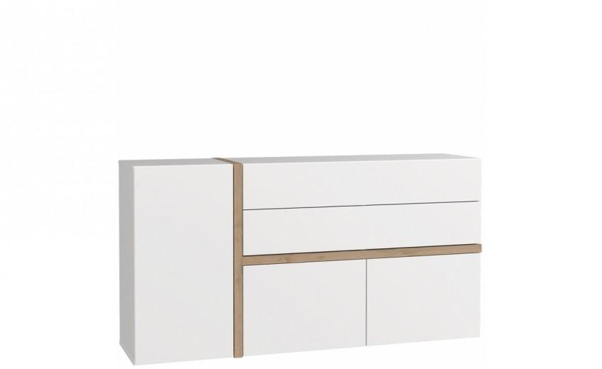 Comoda cu 2 sertare si 3 usi Blanka, l168xA41xH88 cm