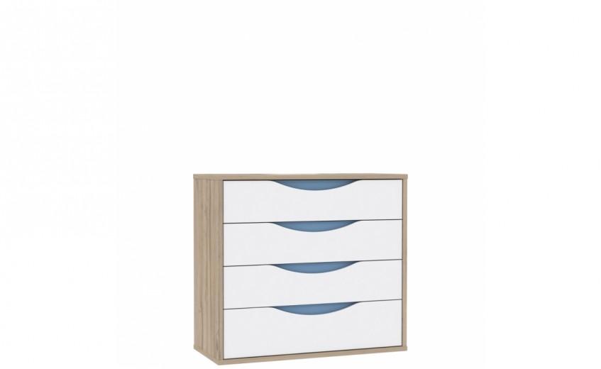 Comoda cu 4 sertare Novelle, l94,5xA41,5xH86,3 cm