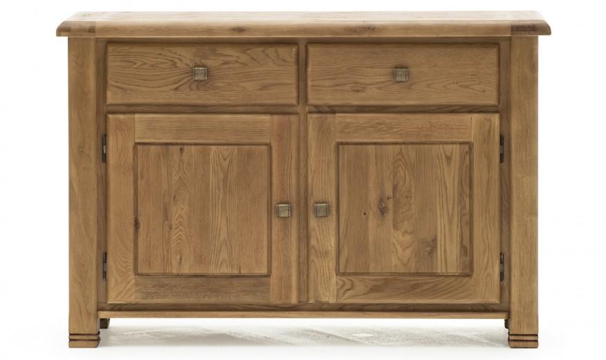 Comoda din lemn de stejar, cu 2 sertare si 2 usi Danube Large Oak, l135xA45xH90 cm