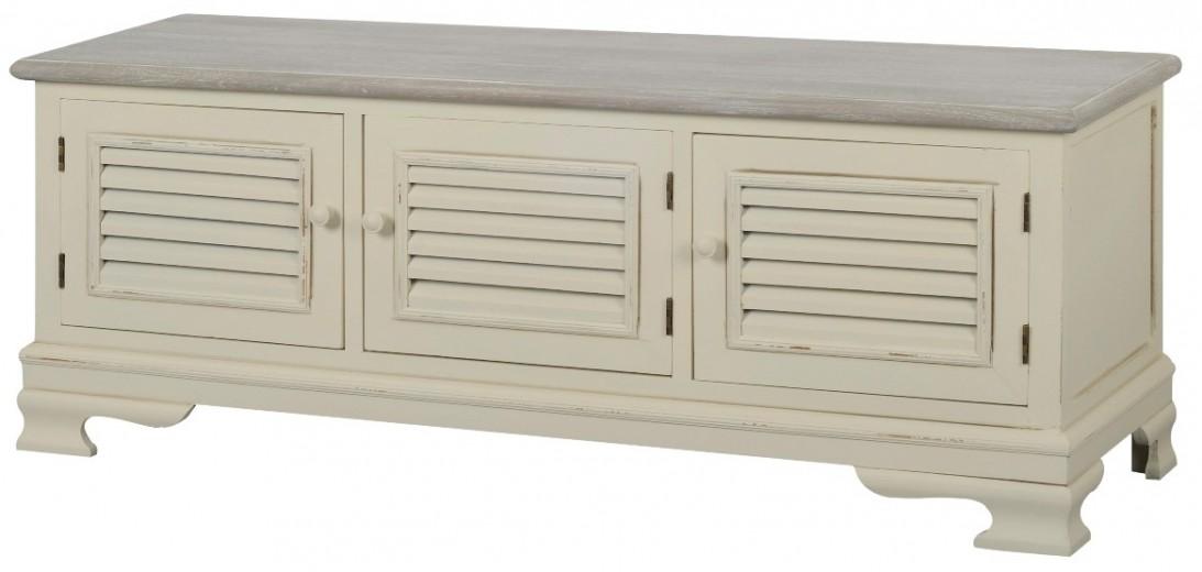 Comoda TV din lemn de plop si MDF, Pesaro PE036, l120xA39xH47 cm