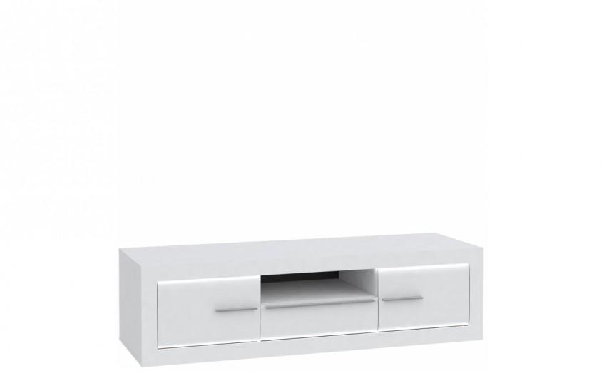 Comoda TV din pal, cu 1 sertar si 2 usi Livinglight Alb, l157,6xA52,1xH42,1 cm