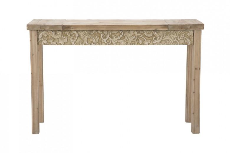 Consola din lemn de brad si MDF Reinassance Natural, l120xA40xH77,5 cm