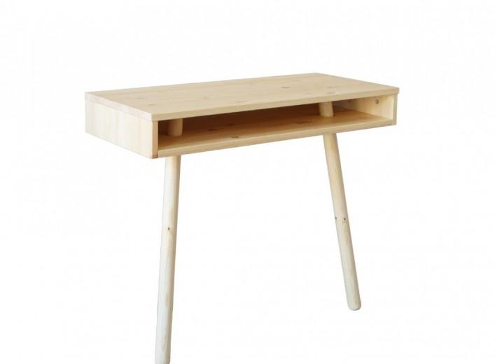 Consola din lemn de pin, Capo Natural, L90xl40xh75 cm