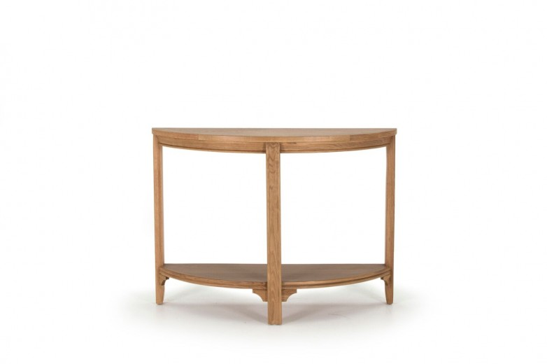 Consola din lemn de stejar si furnir Carmen Oak, l110xA38xH80 cm
