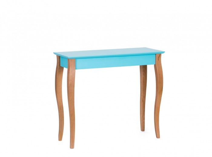 Consola din lemn de fag si MDF Lillo Medium Dark Turquoise, l85xA35xH74 cm