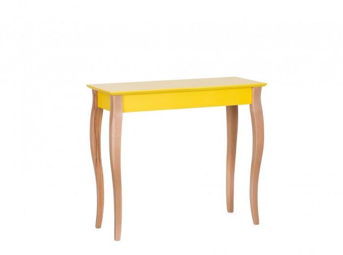 Consola din lemn de fag si MDF Lillo Medium Yellow, l85xA35xH74 cm