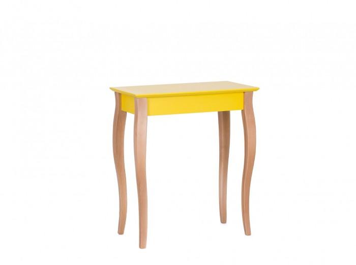 "Consola din lemn de fag si MDF ""Lillo Small"" Yellow, l65xA35xH74 cm"