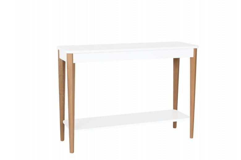 Consola din lemn si MDF Ashme Large White, l105xA35xH75 cm