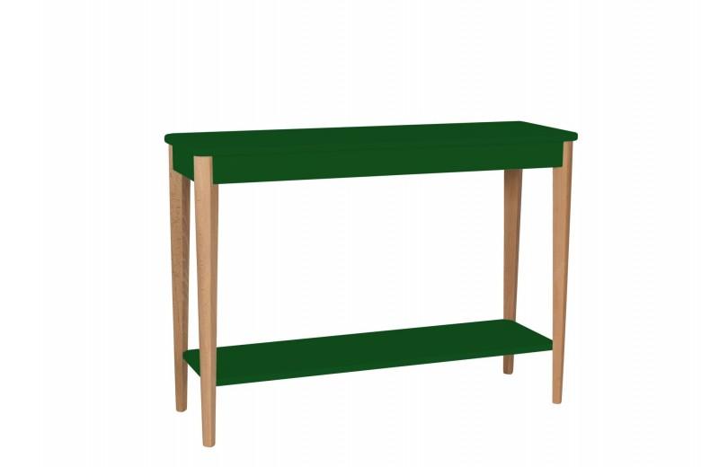 Consola din lemn si MDF Ashme Large Green, l105xA35xH75 cm