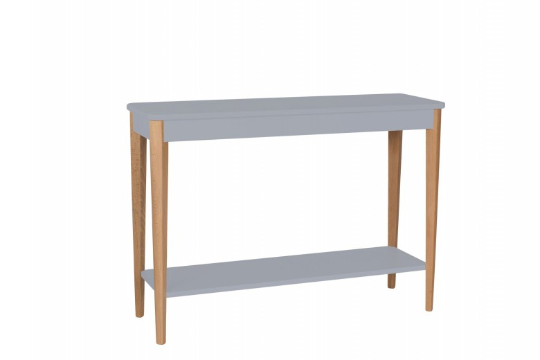 Consola din lemn si MDF Ashme Large Dark Grey, l105xA35xH75 cm