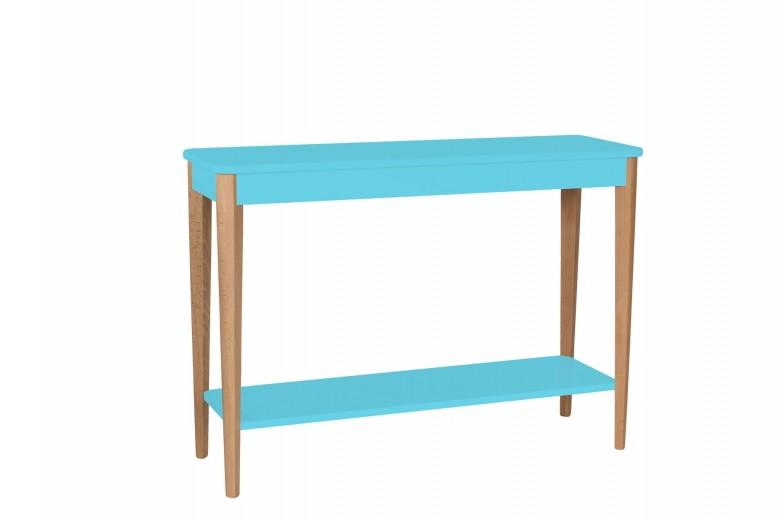 Consola din lemn si MDF Ashme Large Dark Turquoise, l105xA35xH75 cm