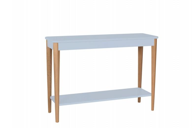 Consola din lemn si MDF Ashme Large Light Grey, l105xA35xH75 cm