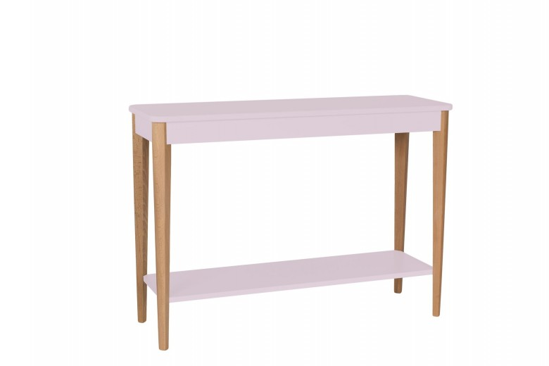 Consola din lemn si MDF Ashme Large Dusky Pink, l105xA35xH75 cm