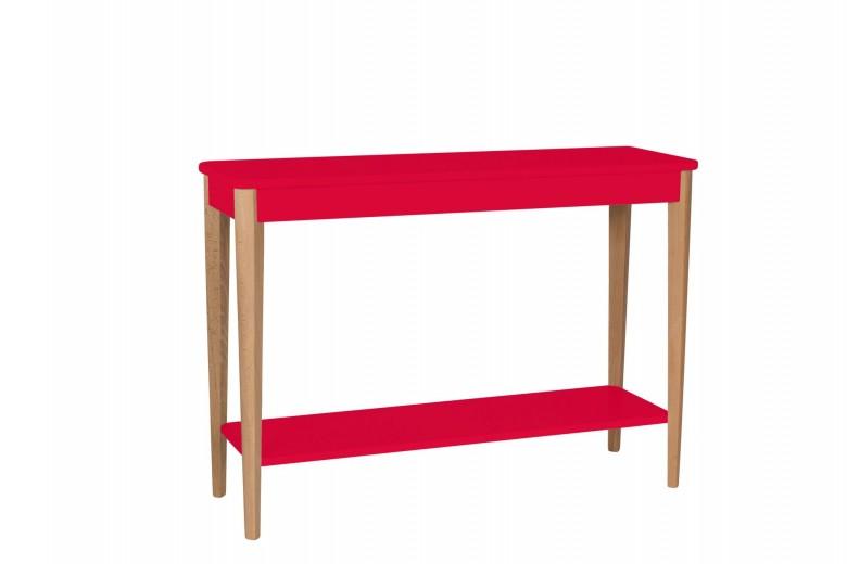 Consola din lemn si MDF Ashme Large Red, l105xA35xH75 cm