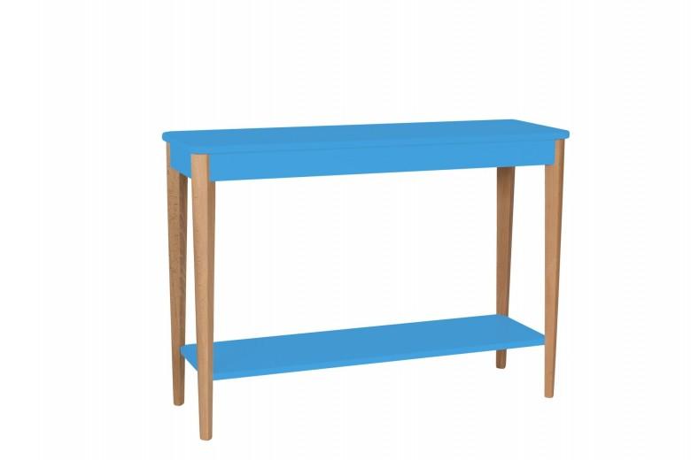 Consola din lemn si MDF Ashme Large Sky Blue, l105xA35xH75 cm