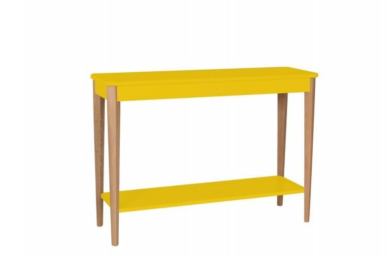 Consola din lemn si MDF Ashme Large Yellow, l105xA35xH75 cm