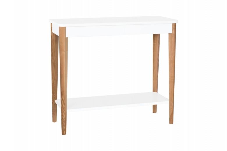Consola din lemn si MDF Ashme Medium White, l85xA35xH75 cm