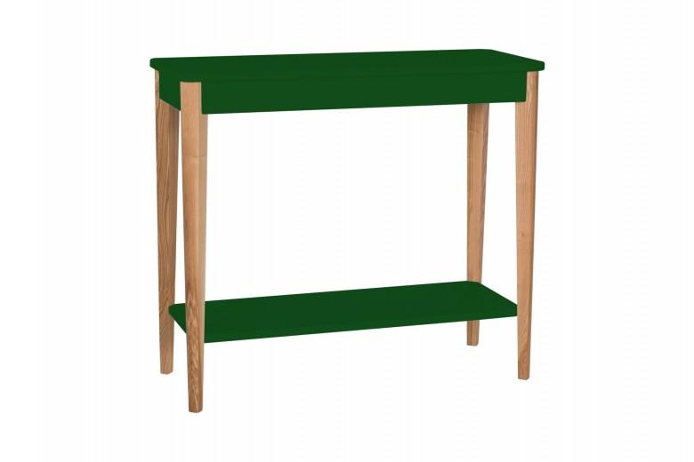 Consola din lemn si MDF Ashme Medium Green, l85xA35xH75 cm