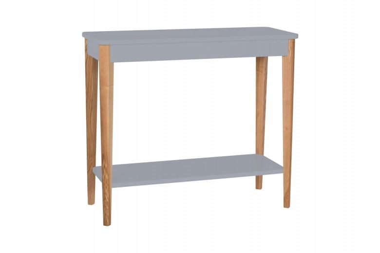 Consola din lemn si MDF Ashme Medium Dark Grey, l85xA35xH75 cm