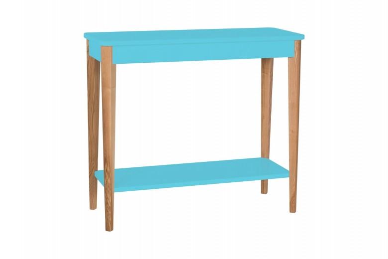 Consola din lemn si MDF Ashme Medium Dark Turquoise, l85xA35xH75 cm