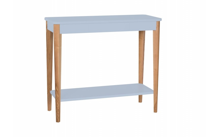 Consola din lemn si MDF Ashme Medium Light Grey, l85xA35xH75 cm