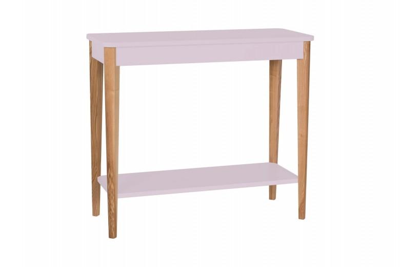 Consola din lemn si MDF Ashme Medium Dusky Pink, l85xA35xH75 cm
