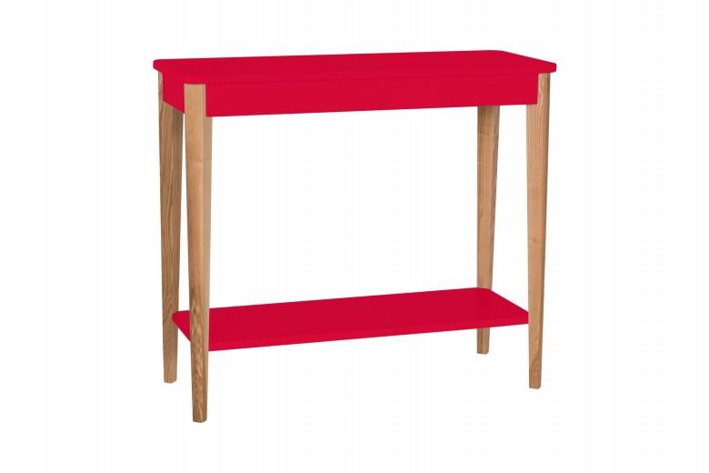 Consola din lemn si MDF Ashme Medium Red, l85xA35xH75 cm