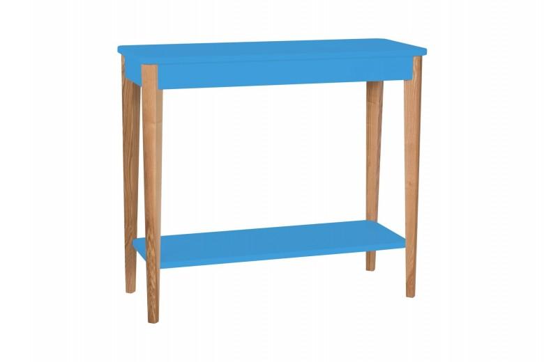 Consola din lemn si MDF Ashme Medium Sky Blue, l85xA35xH75 cm