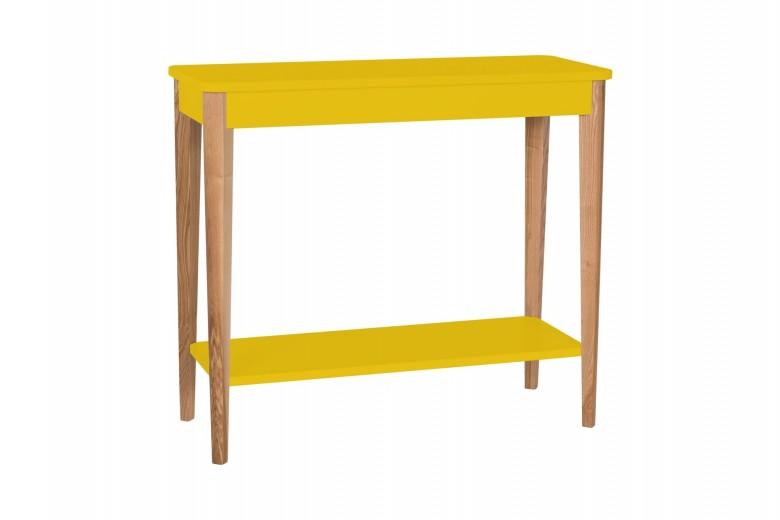 Consola din lemn si MDF Ashme Medium Yellow, l85xA35xH75 cm