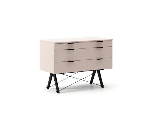 Comoda Double Dusty Pink, l100xA50xH75 cm