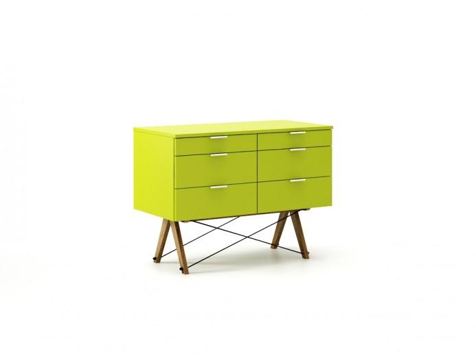 Comoda Double Green Neon, l100xA50xH75 cm