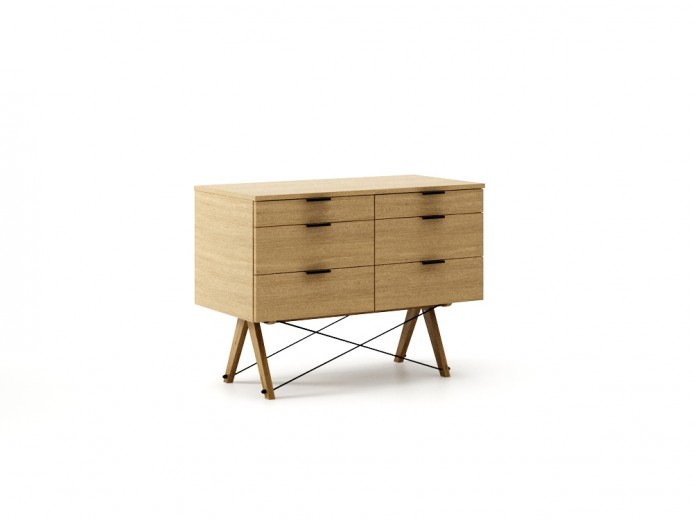Comoda Double Wood, l100xA50xH75 cm