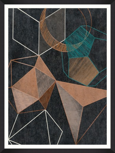 Tablou Framed Art Copper Geometry II