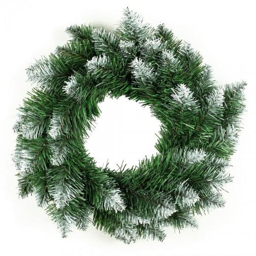 Coroana decorativa de Craciun Polar Verde / Alb, Ø50 cm
