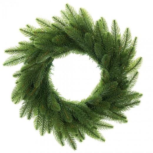 Coroana decorativa de Craciun Winter Time Verde, Ø50 cm