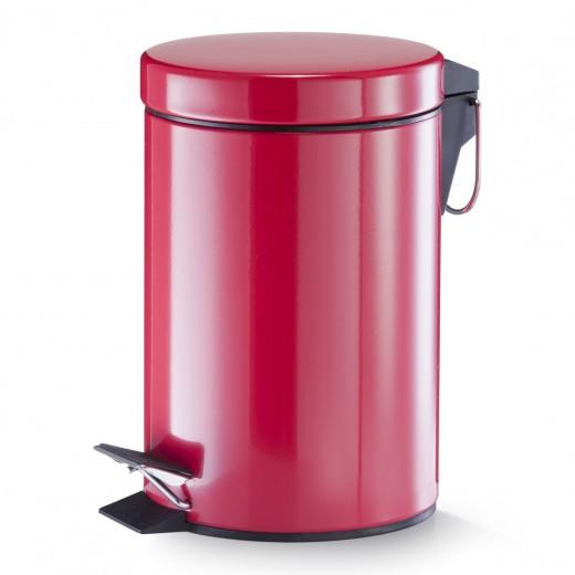 Cos de gunoi cu pedala pentru baie, Metal, Colors, 3L