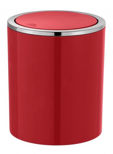 Cos de gunoi pentru baie, din ABS, Inca Rosu, 2L, Ø14xH16,8 cm