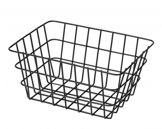Cos metalic pentru depozitare, Viana Negru, l18xA12xH25 cm