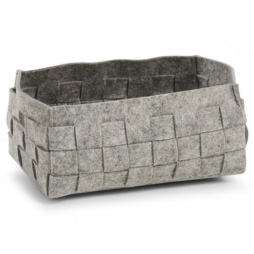 Cos pentru depozitare Cozy, din pasla, Grey, l30xA20xH14 cm