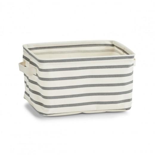 Cos pentru depozitare din panza, Grey II Stripes, l28xA21xH16 cm