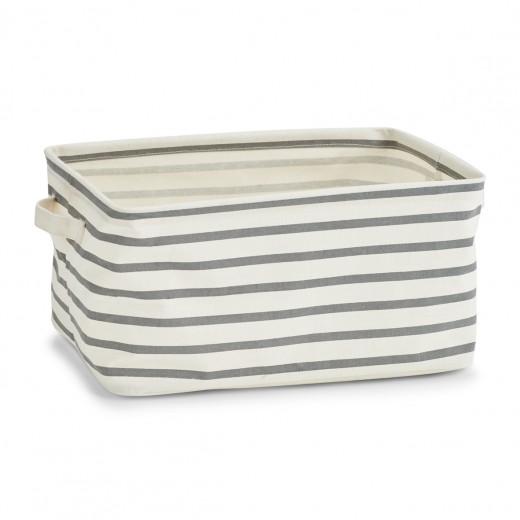 Cos pentru depozitare din panza, Grey III Stripes, l36xA25xH18 cm